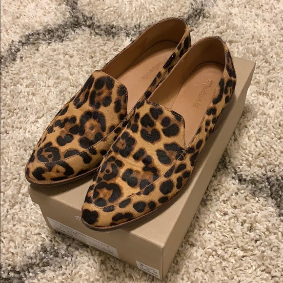Madewell Frances Loafer In Leopard Calf